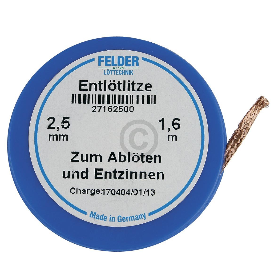 Entlötlitze 2,5mmØ 1,6m Rolle Felder 27162500