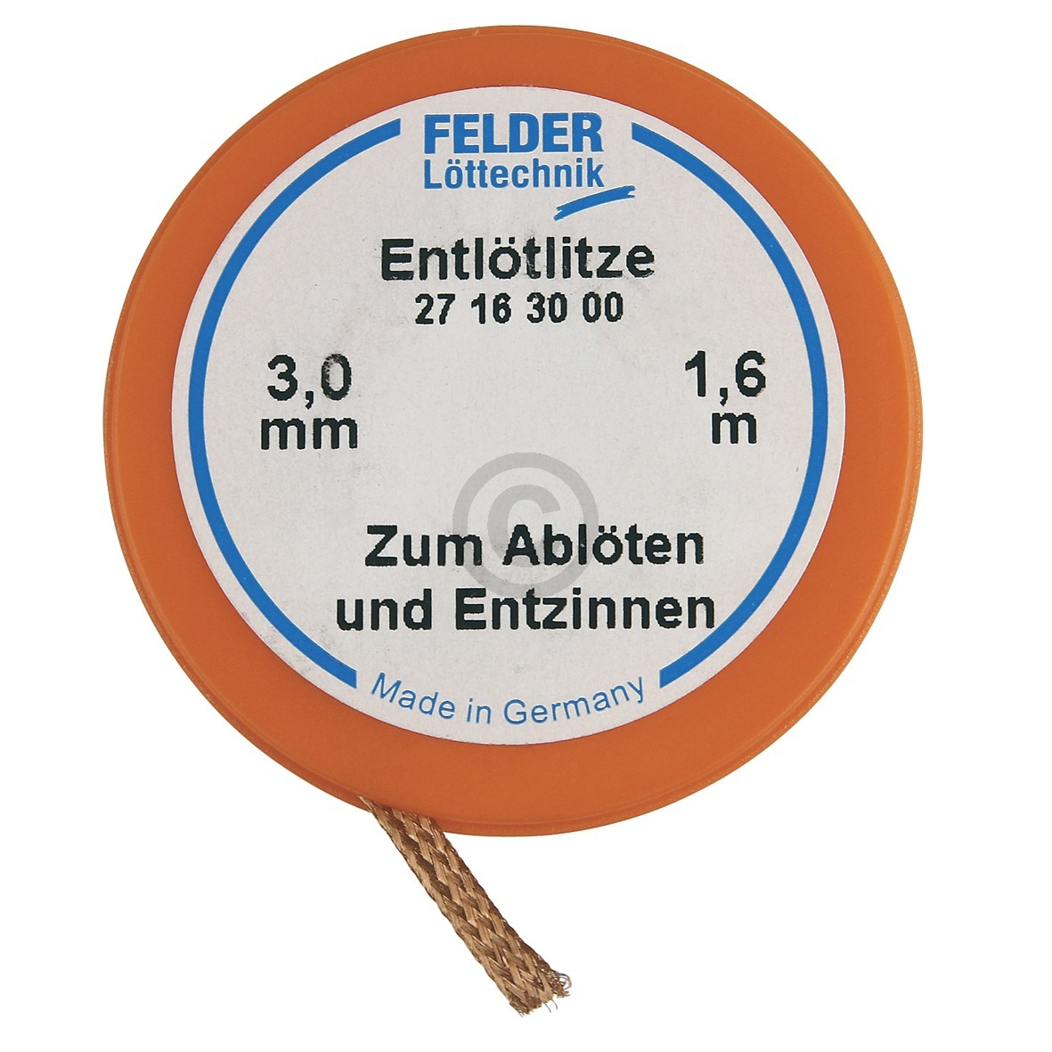 Entlötlitze 3mmØ 1,6m Rolle Felder 27163000