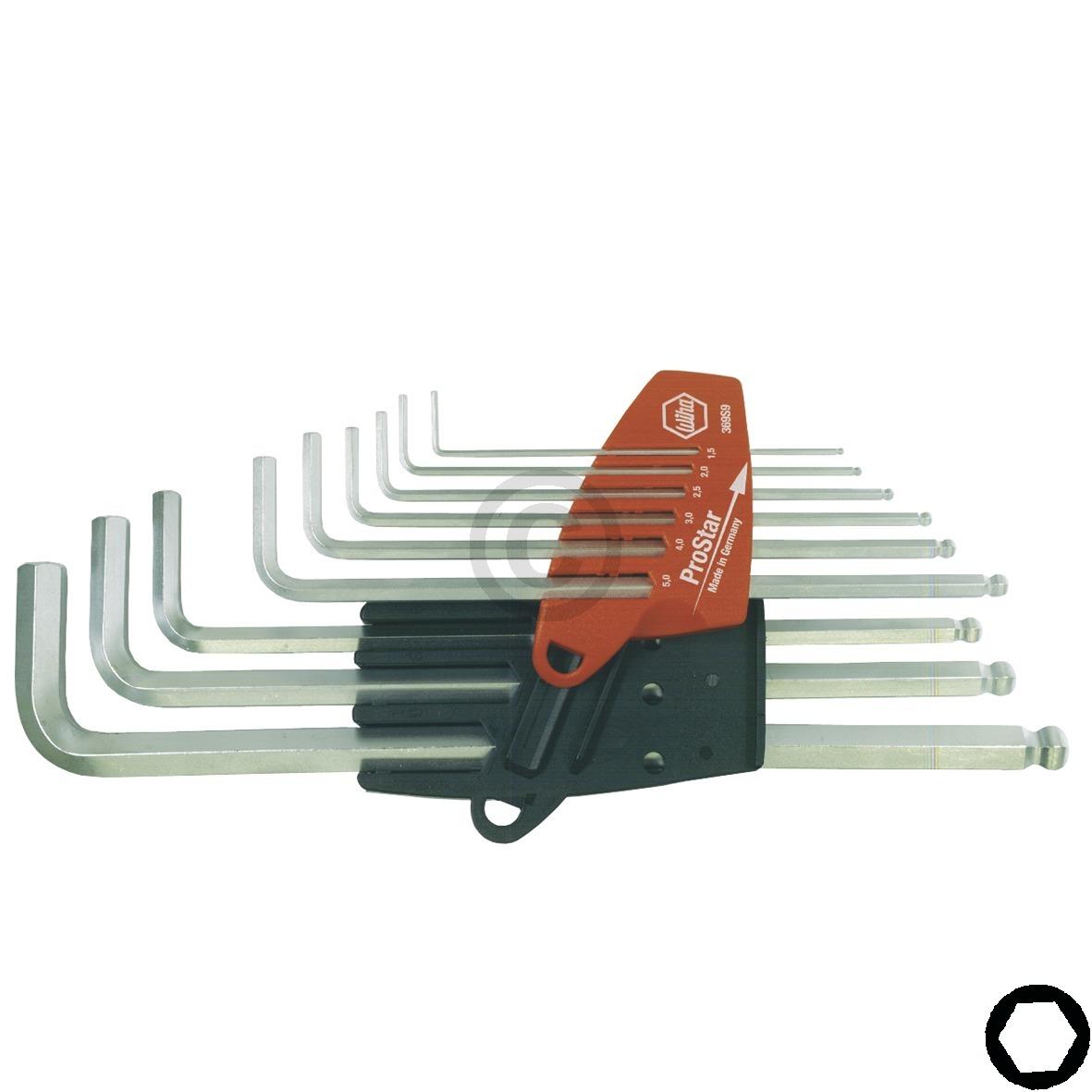 Stiftschlüsselsatz Sechskant-Kugelkopf im ProStar-Halter 07185